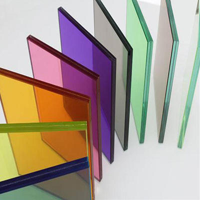Colourful laminated tempered glass