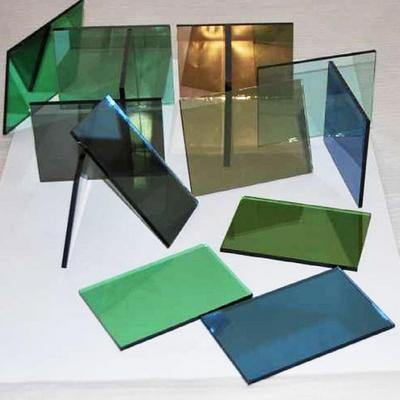 Colour toughened glass panels