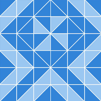 Square glass mosaic tile triangle series 4mm thickness 327mm