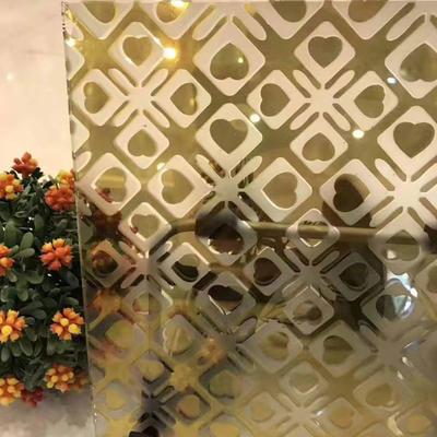 Golden ice flower glass sheet decorative glass