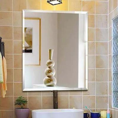 Simple bathroom mirror make up mirror